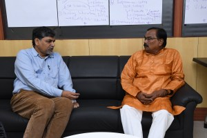 OdishaLIVE CEO Nilambar Rath with Guru Ramhari Das