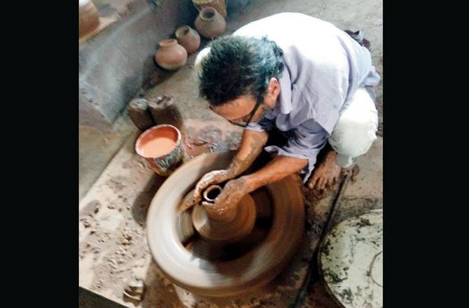 Jackie Shroff Tries His Hands At Pottery, Posts A Picture On Instagram