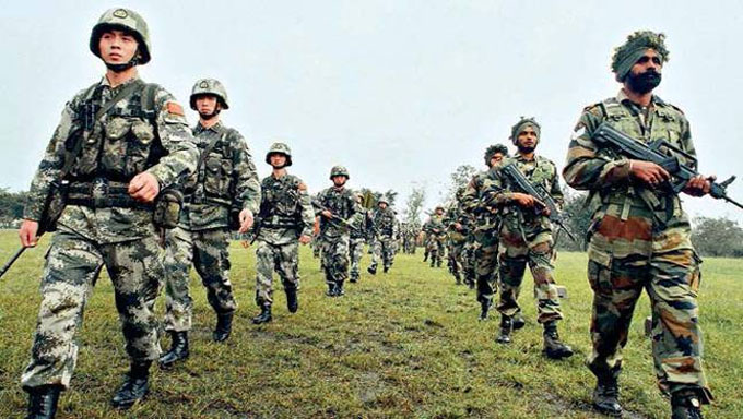 china-india army face off