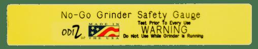 ODIZ Bench Grinder Safety Scale/ Bench Grinder Safety Gauge