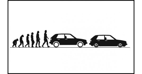 Evolucja VW Golf Mk2 150cm czarna matowa