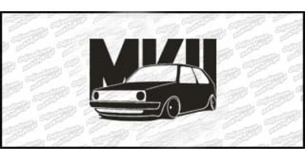 VW Golf MK2 15cm Czarna naprasowanka