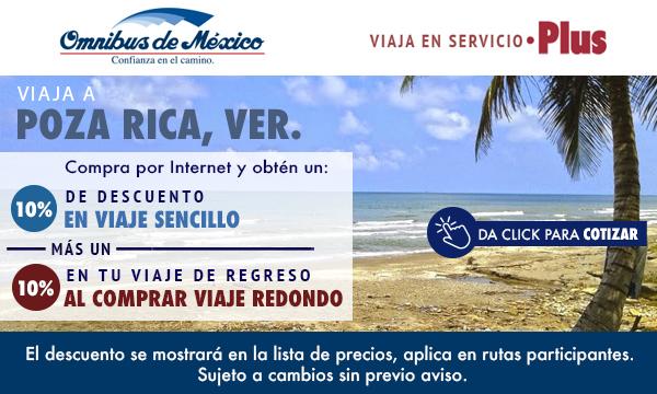 boletos de autobus a Poza Rica