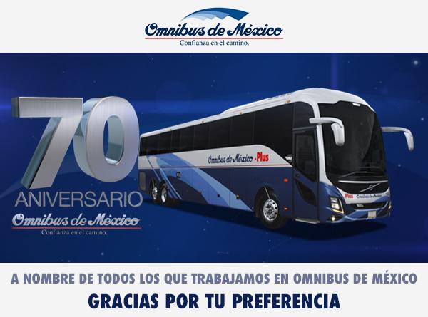 boletos de autobus omnibus de mexico 70 años