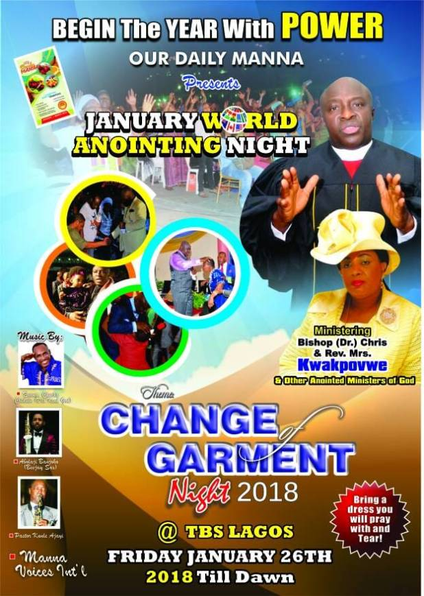 Live Streaming Our Daily Manna Change of Garment Night 2018