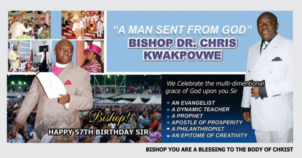 Happy 57th Birthday Dr Chris Kwakpovwe