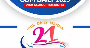 PRAYER POINTS SECTION OF OUR DAILY MANNA