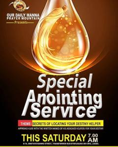 """The LEKKI Anointing Service - """"I SHALL RECOVER ALL"""""""