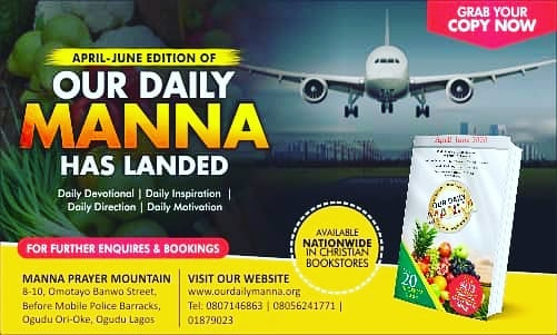 Our Daily Manna ODM 1st April 2020