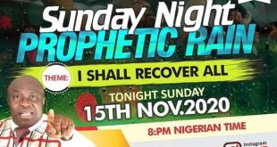 Prophetic Rain Bishop Chris
