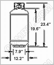 Gas Cylinder 30 LB F32071 [1160tc.5] : Out-of-Doors Mart