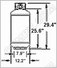 Gas Cylinder 40 LB F32073 [1220.13] : Out-of-Doors Mart