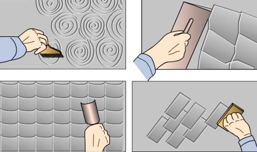 варианты отделки штампом