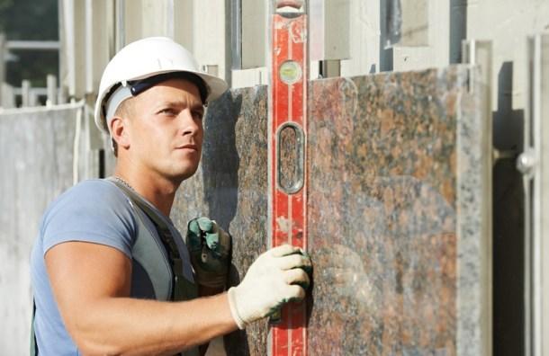 как установить плиту на фасад