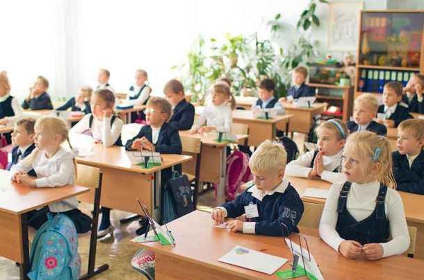 школьные годы, дети за партами