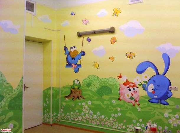 разрисованные стены детской комнаты
