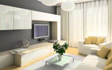 Светлый дизайн небольшой гостиной комнаты