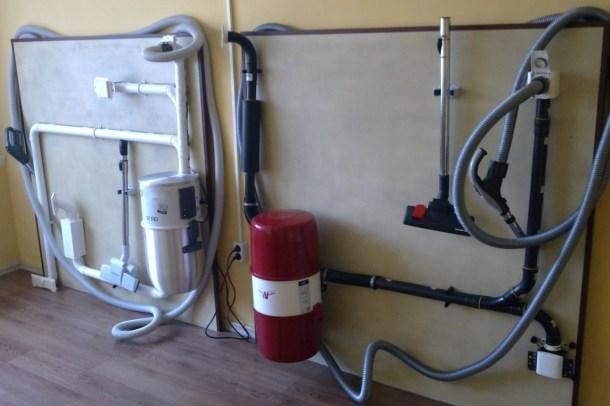 система центрального пылеудаления - силовой блок