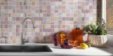 Мозаика из плитки Cardiff Caramelo на кухне