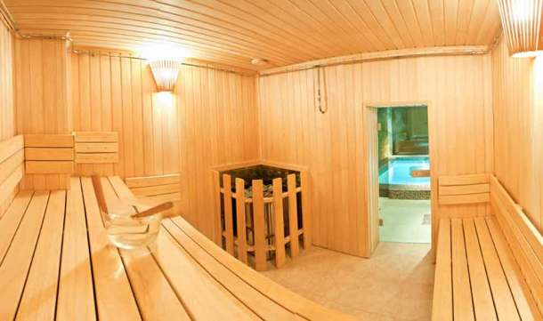 баня сауна с бассейном