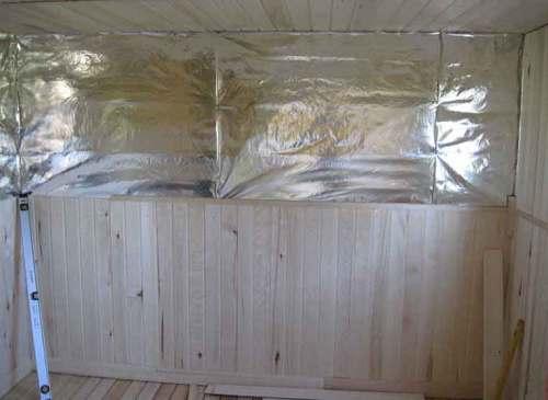 обшить баню внутри вагонкой
