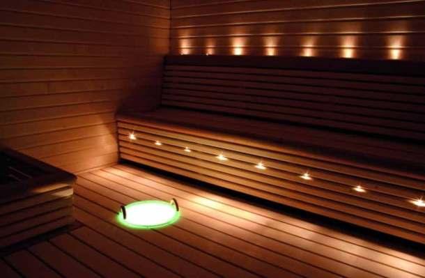 оптоволоконное освещение в бане