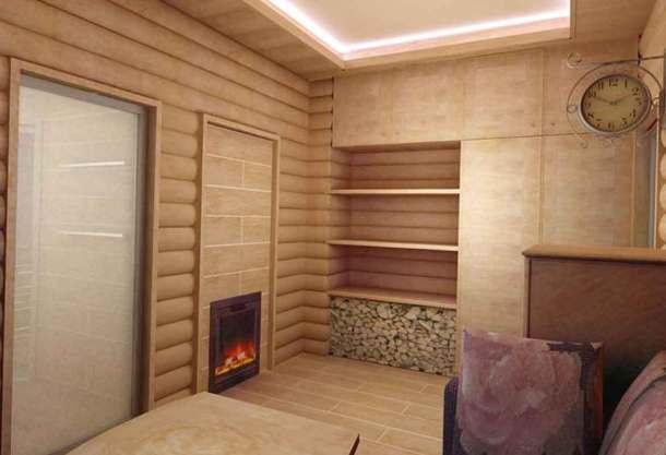 баня-дом внутри