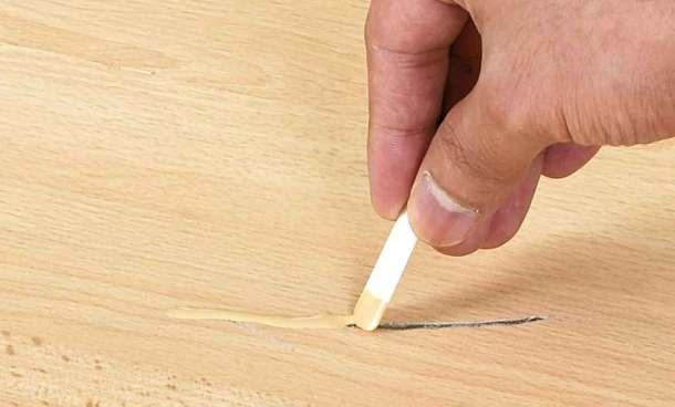 Царапины на деревянной мебели