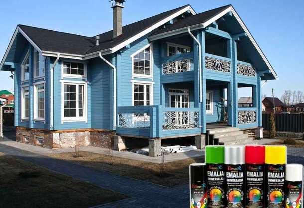 окрашенные поверхности дома, краски