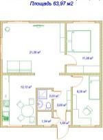 Благодаря функциональной планировке уютно может быть даже большой семье