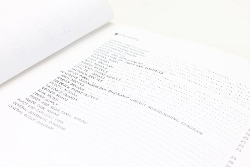 Yamaha PM-2000 Mixing Console Schematics Manual