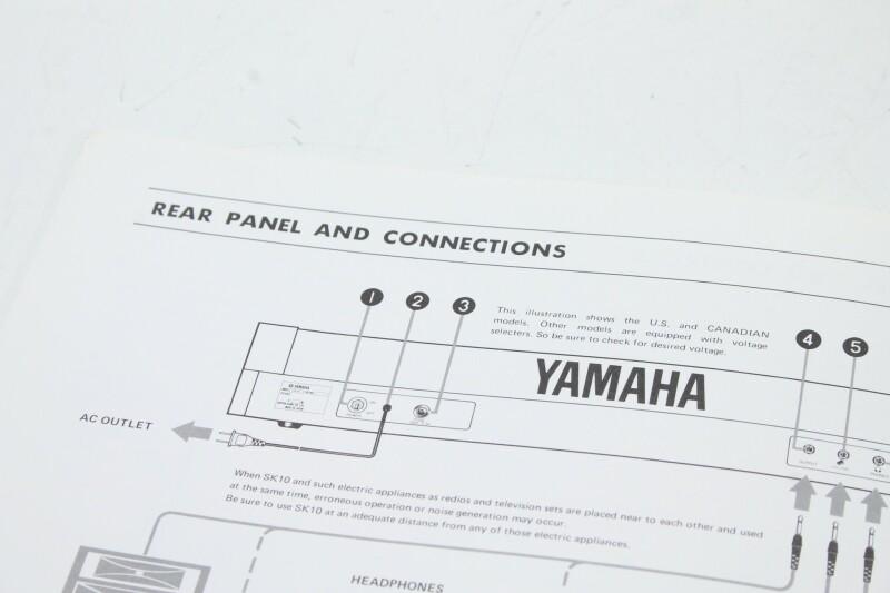Yamaha SK10 Symphonic Ensemble Owners Manual