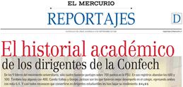 """Polémica por publicación de puntajes PSU y NEM de dirigientes de la CONFECH en """"El Mercurio"""" (1/4)"""