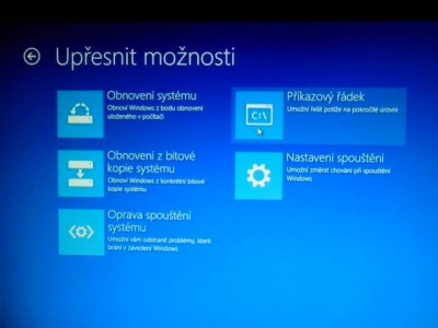 recovery konzole Windows 8