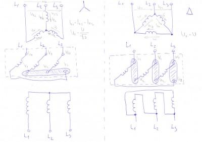 Schéma zapojení motoru do hvězdy a trojúhelníka