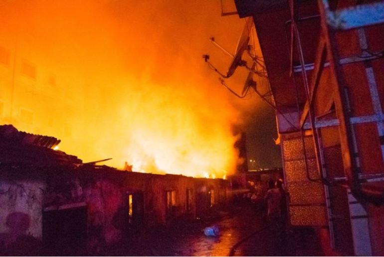 Fire Razes Kara Market Along Lagos/Ibadan Expressway