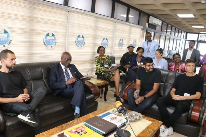 Twitter CEO Jack Dorsey in Lagos