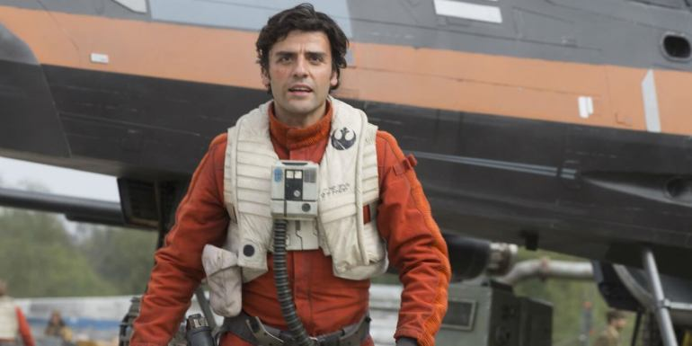 Isaac as Poe in Star Wars