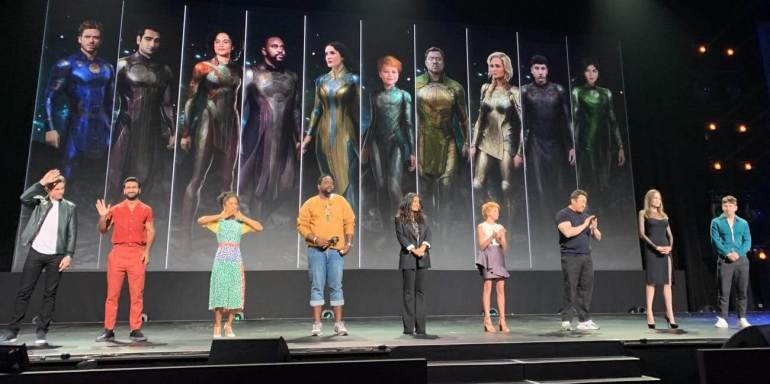 Members of the cast of The Eternals movie