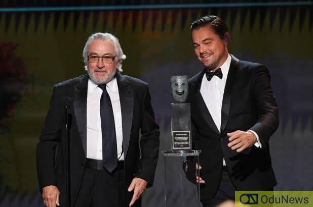 Robert De Niro and Leonardo DiCaprio at the 2020 SAG Awards