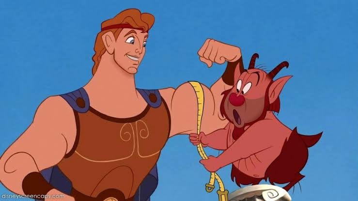 Hercules and his trainer, the satyr Philoctetes