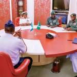 Insecurity: Buhari, Service Chiefs Meet