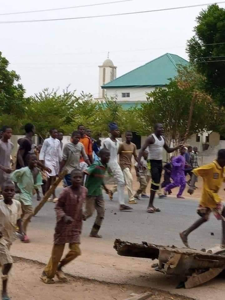 [PHOTOS] Protest Rocks Katsina Over Insecurity
