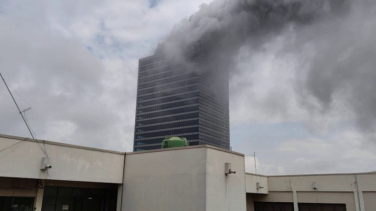 JUST IN: Fire Razes Abuja World Trade Centre [VIDEO]