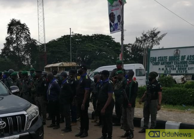 Obaseki Vs Ize Iyamu: Police Take Over Edo National Assembly
