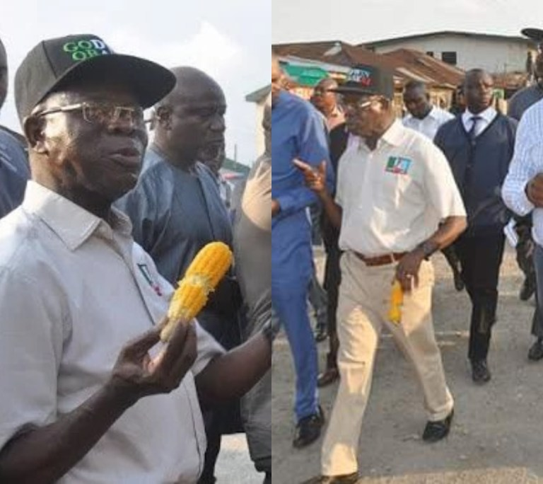 Like 2016, Oshiomhole Returns To The Streets To Buy Corn Ahead Of Edo Election [VIDEO]