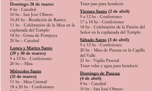 SEMANA SANTA CELEBRACIONES EN CATEDRAL