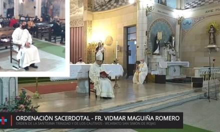 Homilía del Obispo en la ordenación presbiteral Fr. Vidmar Maguiña