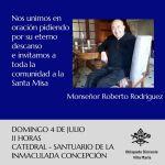 Fallecimiento de Mons. Roberto Rodríguez