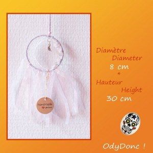 Attrape Rêves Dreamcatcher Artisanal Mobile Lune Quartz